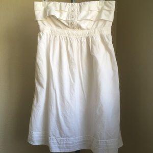 GAP White Strapless Dress
